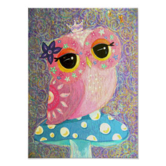 Owl Fairy Princess Posters