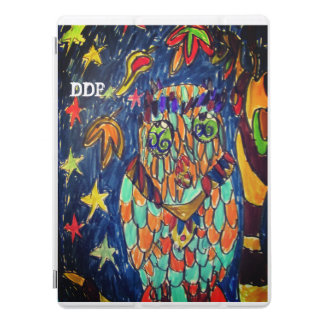 owl fall art two iPad pro cover