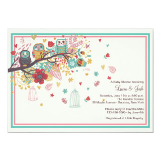 Owl Family Baby Shower Invitation