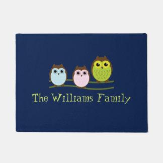 Owl Family Door Mat