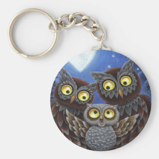 Owl Family Keychain