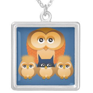 OWL FAMILY NECKLACE