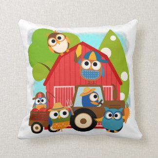 Owl Farmers Cushion