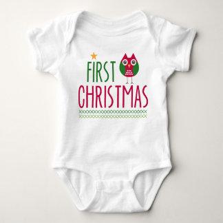 Owl First Christmas Onsie Tshirt