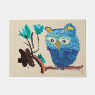 Owl & Flowers Mat