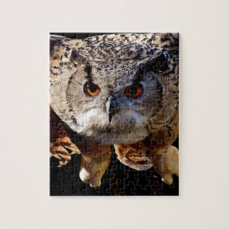 Owl Flying At Night Jigsaw Puzzle