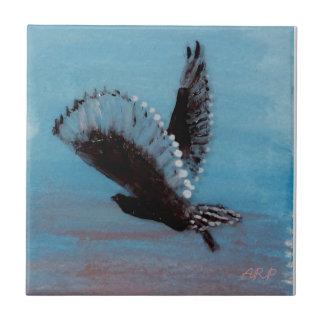 Owl Flying at Sunrise Art Ceramic Tile