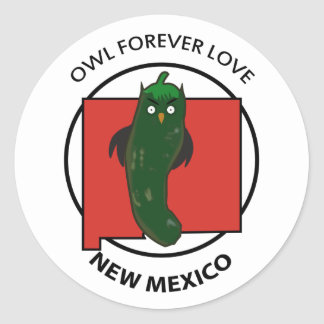 OWL FOREVER LOVE NEW MEXICO stickers