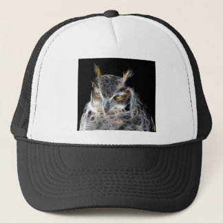 owl fractal design trucker hat