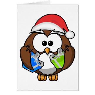 Owl, Fröhliche Weihnachten! Card