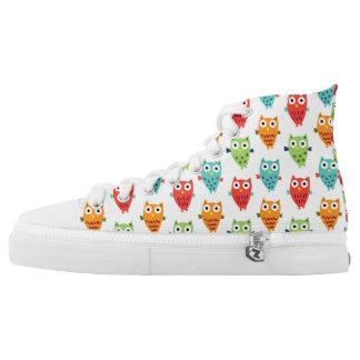 Owl Fun high tops Printed Shoes