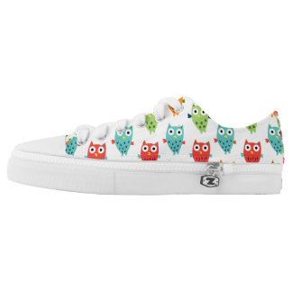 Owl Fun low tops Printed Shoes