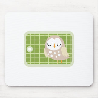 Owl Gift Tag Mouse Pad