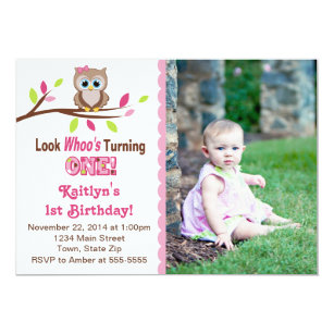 Owl 1st Birthday Invitations Zazzle Com Au