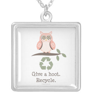 Owl Give A Hoot Recycle Necklace