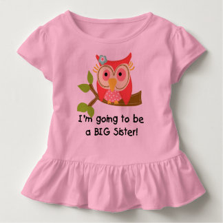 Owl Going to be a Sister Toddler T-Shirt