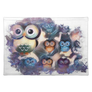 Owl Group Huddle Placemat