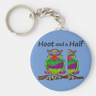 Owl Hoot and a Half Key Ring