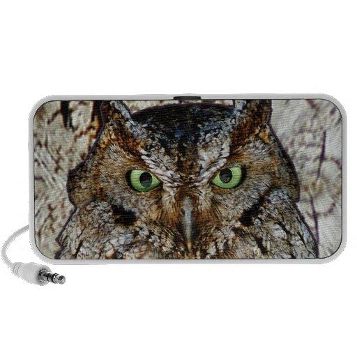 Owl Hoot Eyes Animal Bird Travelling Speaker
