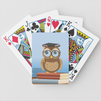 Owl illustration bicycle playing cards