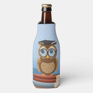 Owl illustration bottle cooler