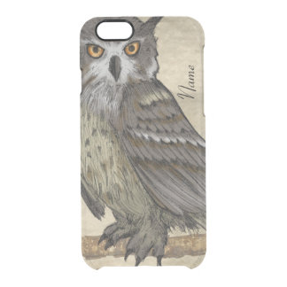 Owl Illustration Clear iPhone 6/6S Case