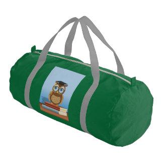 Owl illustration gym bag