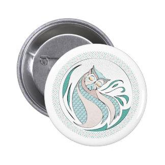Owl Illustration - Owl Illustration 6 Cm Round Badge