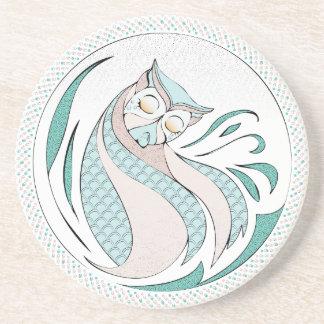 Owl Illustration - Owl Illustration Beverage Coasters