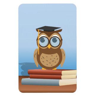 Owl illustration rectangular photo magnet