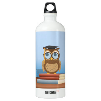 Owl illustration SIGG traveller 1.0L water bottle