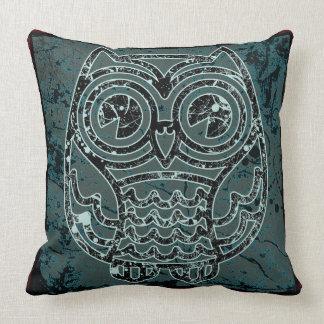"""Owl in batik style2  Throw Pillow 20"""" x 20"""""""