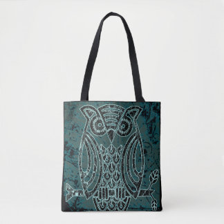 Owl in batik style Tote Bag