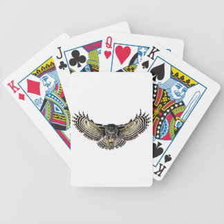 Owl in Flight Bicycle Playing Cards
