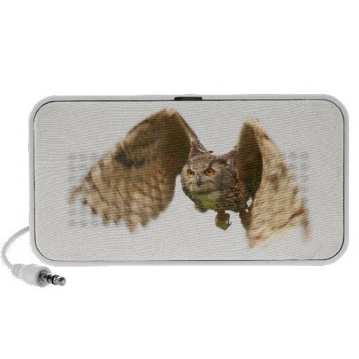 Owl in Flight Doodle Speakers