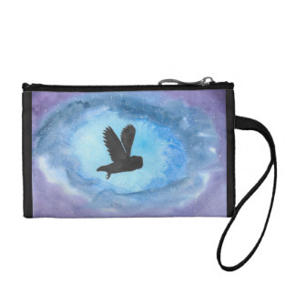 Owl In Flight Key/Coin Clutch Coin Wallet