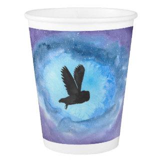 Owl In Flight Paper Cup