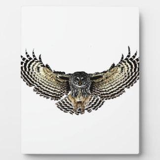 Owl in Flight Plaque