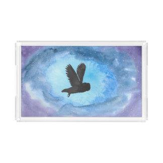 Owl In Flight Rectangular Tray