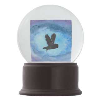 Owl In Flight Snow Globe