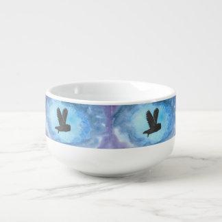 Owl In Flight Soup Mug