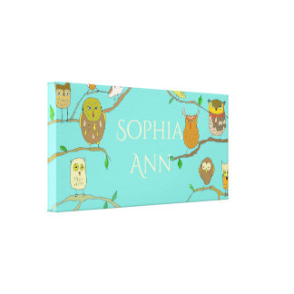 Owl in Forest Personalized canvas