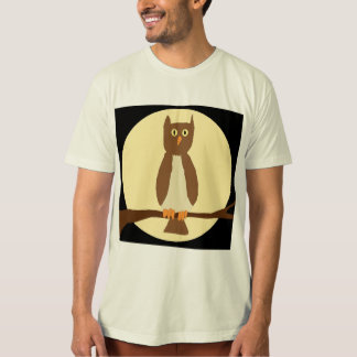 Owl in Moon on Black apparel T-Shirt