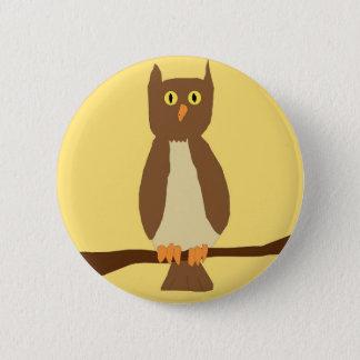 Owl in Moon pin