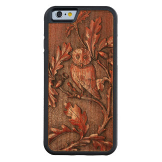 owl in oak tree  wood phone case