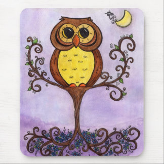 Owl in Tree Mouse Pad