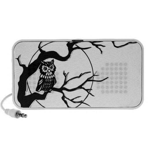 Owl in Tree Laptop Speaker