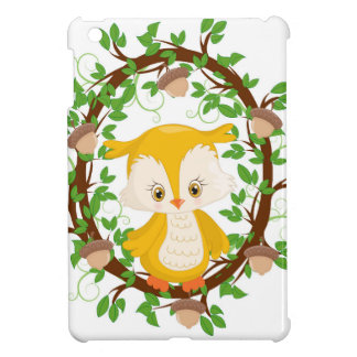 Owl  in wreath WOODLAND CRITTERS iPad Mini Cases