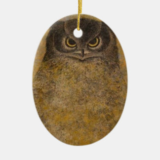 Owl Japanese Fine Art Ceramic Ornament