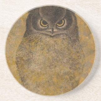 Owl Japanese Fine Art Coaster